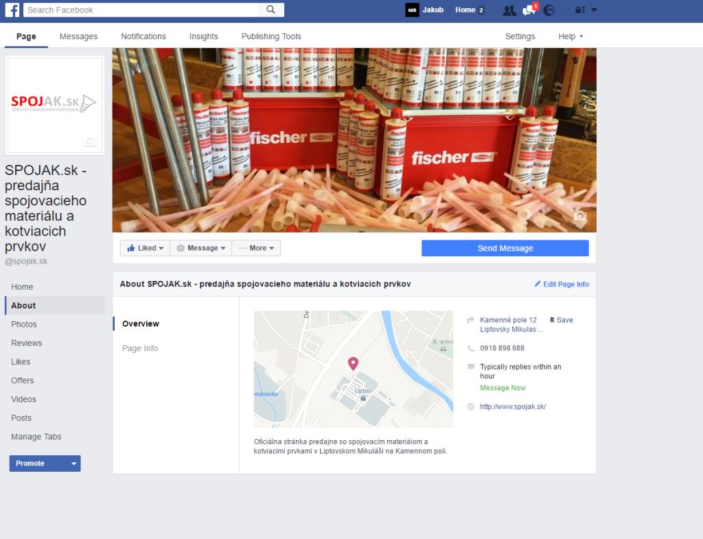oficiálna facebooková stránka predajne so spojovacím materiálom